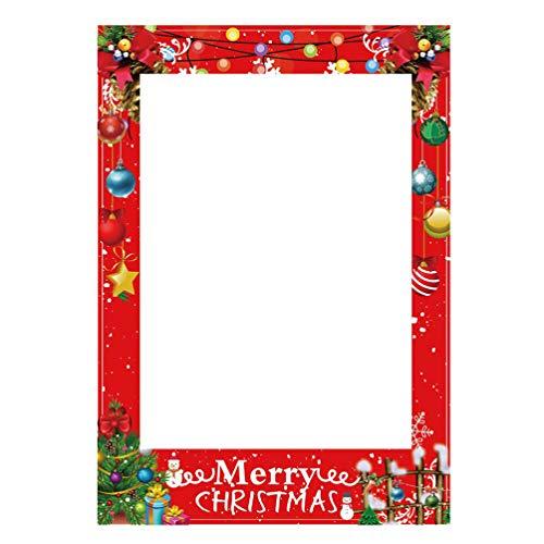 STOBOK 20pcs Weihnachten Photo Booth Requisiten kreative Photobooth Requisiten Rahmen Urlaub Neujahr Dekorationen