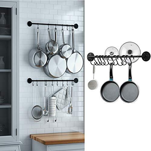 Ganchos de pared para cocina con 10 ganchos, estante para utensilios de cocina, para colgar cuchillos, cuchara, ollas y sartenes