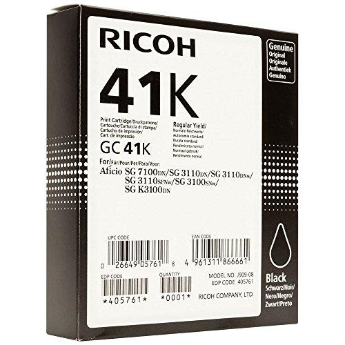 Ricoh GC41K - Cartucho de tinta para Ricoh Aficio SG 3110DN/SG 3110SFNw/ SG 3110DN/SG 3100SNw, negro