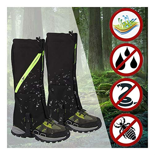 3 Pack Outdoor Hiking Hunting Snow Sand Snake Waterproof Boots Cover Legging Gaiters (LEGENDARY-YES)