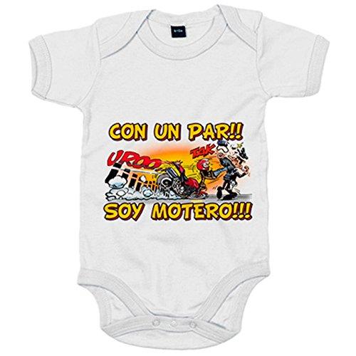Body bebé con un par soy motero - Blanco, Talla única 12 meses