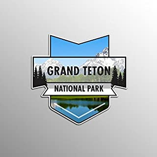 JMM Industries Grand Teton National Park Vinyl Decal Sticker Car Window Bumper 2-Pack 4.7-Inches by 4.4-Inches Premium Quality UV Protective Laminate NPS025