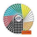AVERY Zweckform Klebepunkte 2.160 Stück (selbstklebende Markierungspunkte, Ø 12 mm, 8 Farben je 270 Klebepunkte, runde Aufkleber für Kalender, Planer und zum Basteln, Papier, matt) Art. 59999