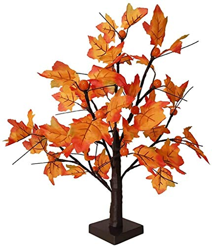 XXLYY 24LED Star Light Tree, Árbol de Arce de Fibra óptica Light Black Branch Decoración del hogar para Navidad Decoración de Acción de Gracias Interior Exterior