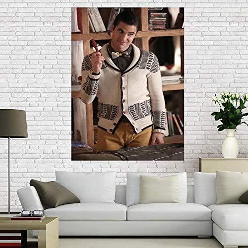 Weijiajia Personnalisé Darren Criss Toile Art Affiche Peinture Affiche Salon Étude Décoration Fans Collection 50x70cm (19.68x27.55 in) F-1746