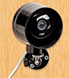 Outdoor Case and Flexible Wall Mount for Nest Cam & Dropcam Pro - 100% Weatherproof - 100% Day & Night Vision - with Heat Sink to Avoid Overheating (Black)