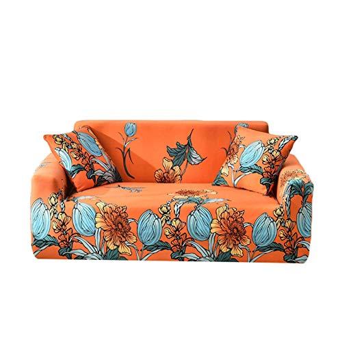 JBNJV Funda de sofá con Estampado elástico, Funda de sofá para 3 Cojines, Antideslizante, Suave, Lavable, Protector de Muebles, Funda de sofá, Funda de sofá con Fondo elástico para Sala de Estar,