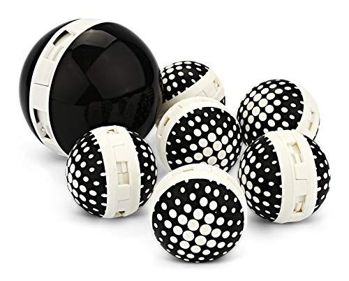 Sof Sole Sneaker Balls Shoe, Gym Bag, and Locker Deodorizer, 3 Pair, Black & White Value Pack, Regular