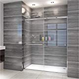 Product Image of the ELEGANT Showers 58.5 - 60' W x 72' H, Semi-Frameless Bypass Sliding Shower Doors, 1/4' Clear Glass, Chrome Finish