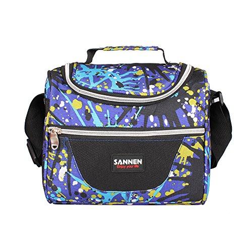 VISTANIA isolé Lunch Bag, Adultes déjeuner Sac Enfants Femmes Hommes déjeuner boîtes Sacs déjeuner Picnic Cooler Bag Repas Prep Sac Bento Box Lunch Tote Camping Voyage, Bleu