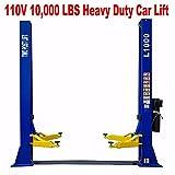 L1000 10,000 LB 2 Post Lift Car Auto Truck Hoist 110V w/ 12 Month Warranty