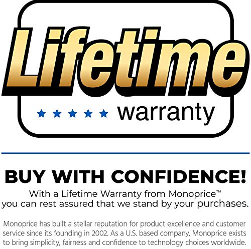Monoprice 15-Feet USB 2.0 A Male to A Female Extension 28/24AWG Cable (Gold Plated) (105435)