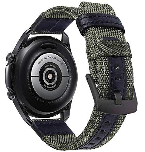 OTOPO für Galaxy Watch 3 45mm Armband, 22mm Nylon Ersatz Riemen Bänder Armband für Samsung Galaxy Watch3 45mm Smartwatch (Armee Grün)