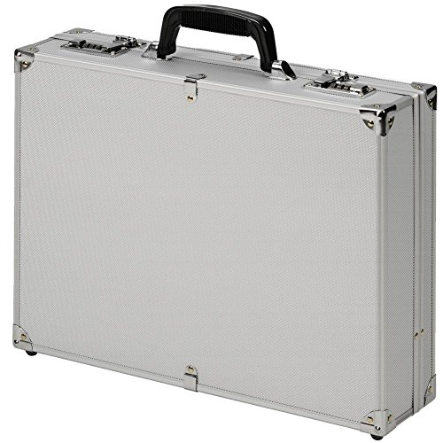 Valigetta Borse Attaché alluminio argento Lucchetto a combinazione duro
