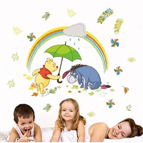 Disney Winnie Pooh Stickers Muraux Pour Les Chambres D'Enfants Décoration 40X60Cm De Bande Dessinée Animaux Zoo Stickers Muraux Pvc Peinture Murale Bricolage Affiches
