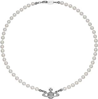 ORJATEXIN Saturn glass-based imitation Pearl Artificial 5A zircon Planet Diamond Artificial Imitation pearl Pendant Neckla...