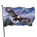 HESMENO Eagle - Banderines de bandera americana de 3 x 5 pies al aire libre de la bandera americana de poliéster resistente a la decoloración y duradero 2021