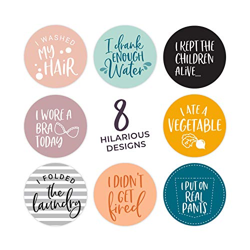 Adulting Stickers / 2 Inch Funny Circle Labels / 250 Per Roll/Snarky Adult Stickers