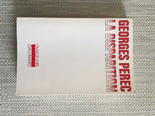 La Disparition de Georges Perec ( 16 mai 1989 )
