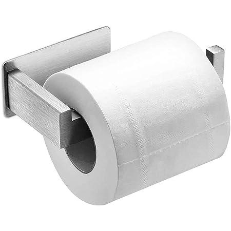 Auxmir Porte Papier Toilette, Porte Rouleau Papier Toilette Mural, Support Papier Toilette, 304 Acier Inoxydable, Porte Rouleau Papier Toilettes sans Percage, Installation avec 3M Auto-adhésif, Argent
