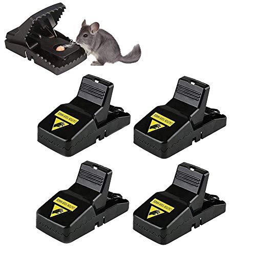 BOMPOW Mouse Traps Reusable Snap Mice Traps That Work Rodent Killer Easy to...
