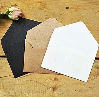 60pcs Envolopes Retro Reusable Mini Size Brown Envelopes Kraft Paper Envelopes for Coins Business Cards