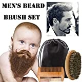 OHQ Kit De Peine Para Barba Cepillo Hombres Barba Bigote Jue