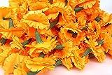 Omg-Deal Ghirlande di calendole di 5metri di lunghezza, ghirlanda di fiori per matrimoni...