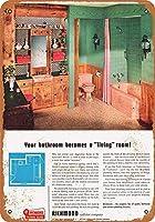 メタルサインリッチモンド配管器具インチレトロな装飾ティンサインバー、カフェ、アート、家の壁の装飾