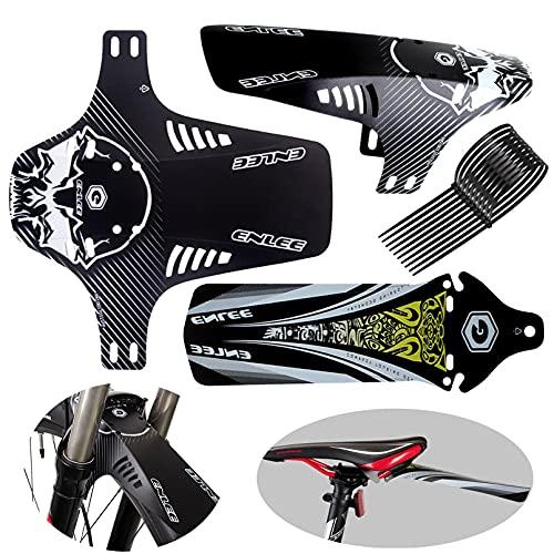 Guardabarros MTB Universal, Mudguard Bike Juego de 3 Piezas, Delantero y Trasero Mud Guard Compatible para 20