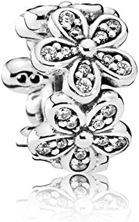 PANDORA - Dazzling Daisies Charm in Sterling Silver with Clear Cubic Zirconia