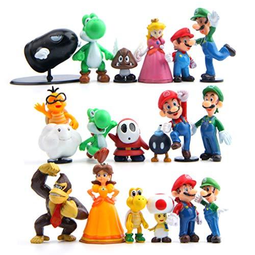 EASTVAPS 18pcs Super Mario Princesse Goomba Bowser Figurine Décoration De Poupée