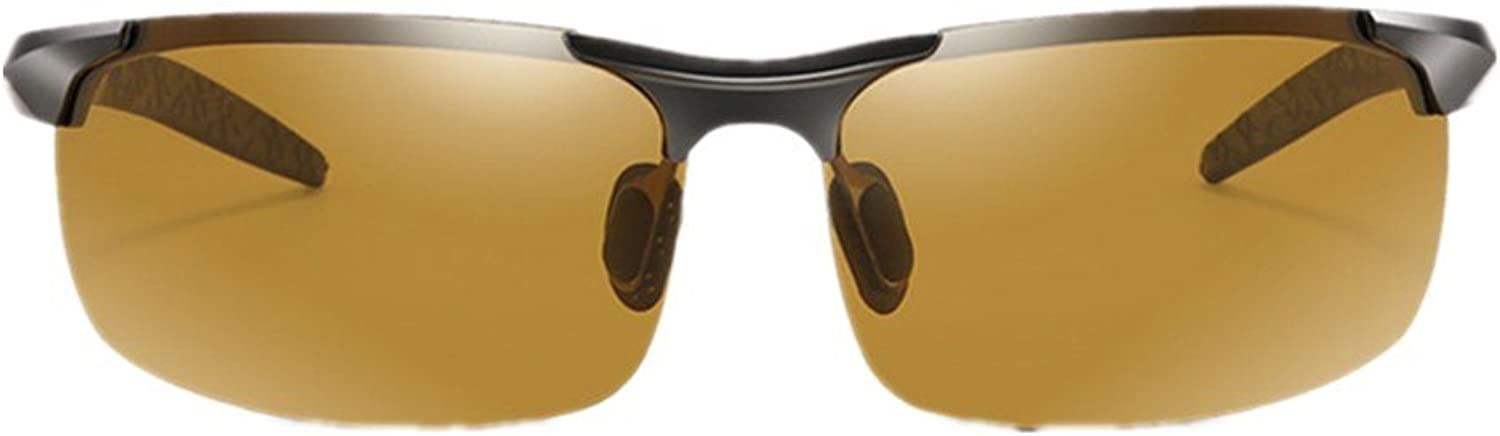 Day and Night Dualuse AluminumMagnesium color Polarized Sunglasses Men and Women Riding Sports Driving Mirror