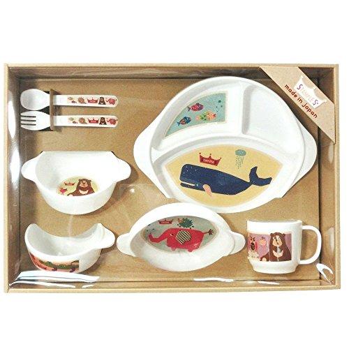 スタンプル(stample)ベビー食器 7点セット(ランチプレート/小皿/スープ皿/お茶碗/マグカップ/カトラリーの7...