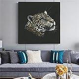 N / A Pintura sin Marco Lienzo Pintura león Leopardo Zorro impresión del Cartel Pintura al óleo Arte Sala de Estar Dormitorio decoración Pintura ZGQ6056 60X60cm