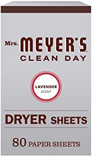 Mrs. Meyer's Clean Day Dryer Sheets, Lavender, 80 ct