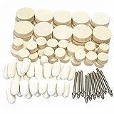 XUXUWA Industrielle Schleifmittel, 88 Stück, Filz-Polierscheiben mit Spanndorn für Rotary Dremel