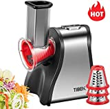 Electric Salad Maker Multifunctional for Home Kitchen Use, 200W Professional Electric Slicer Cheese Grater 5 in 1 for Fruits Vegetables, One Button Easy Control, BPA-Free, TIBEK