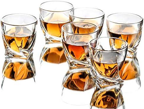 Triplorare Whiskey glasses set of 6 10 OZ Old Fashioned Whiskey glasses Rum glasses Bar whiskey product image