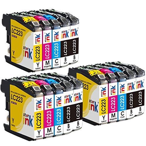 Starink Cartuchos de tinta Compatibles para Brother LC223 LC-223 para Brother DCP-J4120DW DCP-J562DW, MFC-J480DW J880DW J4420DW J4625DW J4620DW J5320DW J5620DW J680DW J5720DW J5625DW