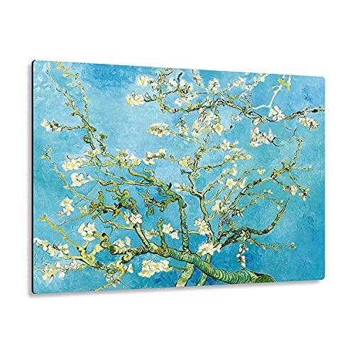 Giallobus - Giallopanel Art Board - Vincent Van Gogh - Flores de Almendro - Madera de MDF - 29,7X21