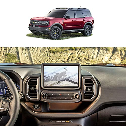 Screen Protector Foils for 2021 Ford Bronco Sport SYNC3 8In Navigation Display Tempered Glass 9H Hardness Anti Scratch HD Clear LCD GPS Touch Screen Protective Film