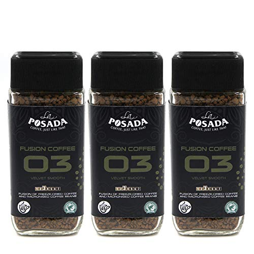 La Posada Velvet Smooth 5% Mikromahlung Instantkaffee, gefriergetrocknet, (3x90g)