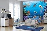 Komar - Disney - Fototapete FINDING DORY -  368 x 254 cm - Tapete, Wand, Dekoration, Wandbelag,...