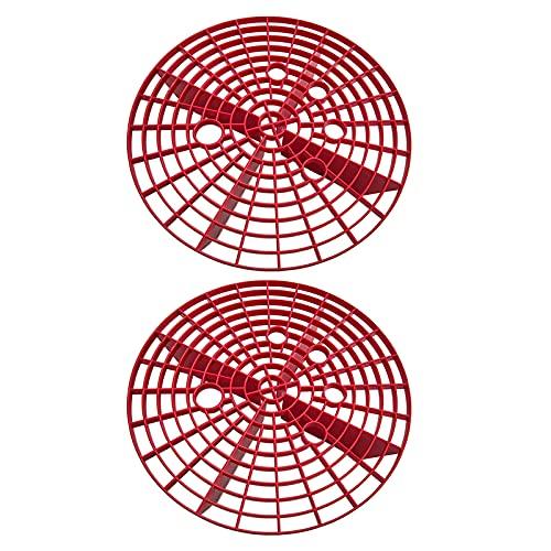 H HILABEE 2X Lavado de Coches Grano Guardias Bucket Inserte La Tabla de Lavabos, Filtro de Trampa de Suciedad Separado Ajuste para El Colador de Pantalla Acceso - Rojo, 9.25 × 2.36 Pulgadas