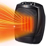Kismile Small Space Heater Electric Portable Heater Fan for Home and Office Ceramic Fan Heaters with Adjustable...