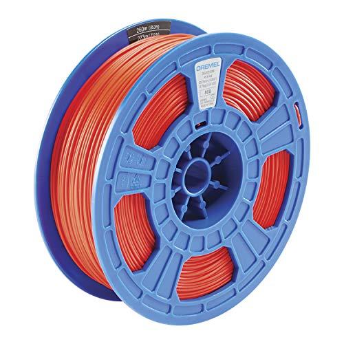 Dremel DigiLab PLA-RED-01 3D Printer Filament, 1.75 mm Diameter, 0.75 kg Spool Weight, Color Red, RFID Enabled, New Formula and 50 Percent More per Spool