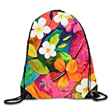 uykjuykj Bolsos De Gimnasio,Mochilas,Drawstring Backpack Rucksack Shoulder Bags Gym Bag Travel Backpack Unnamed Art flowers2 Lightweight Unique 17x14 IN