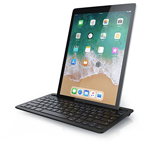 CSL - Bluetooth Tastatur mit integrierter Tablet Halterung - QWERTZ Layout Deutsch - kompatibel mit iOS Android Windows - kompatibel mit Apple iPad 2 3 4 Pro Air