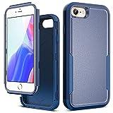 ULAK Funda Compatible con iPhone 7/8/SE 2020, 3 en 1 Estuche a Prueba de Golpes de Estuche Parachoques de Resistente Caso de protección Suave de TPU para Apple iPhone 7/8/SE 2020 4,7 Pulgadas - Azul